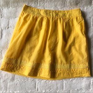 LOFT Yellow cotton Skirt size 8